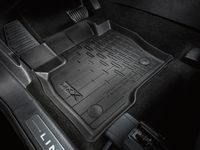 Lincoln MKX Floor Liner;Tray Style, Black, 4-Piece Set - HA1Z-5813300-AA