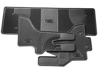 Ford E-150 Floor Mats - All-Weather Thermoplastic Rubber, Black 4-Pc. Set - BC2Z-1613300-AD