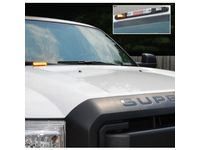 Ford F-350 Super Duty LED Warning Strobes by SoundOff Signal - 4 Corner Strobe, Charcoal Black, Without Up-Fitter Switch - VEC3Z-13C788-DA