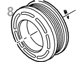 Ford A/C Idler Pulley - 1L2Z-19D784-AA