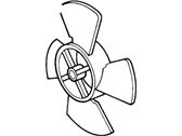 Ford Crown Victoria Fan Blade - E3ZZ-8600-B