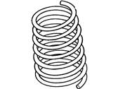 Ford Contour Coil Springs - F5RZ-5560-B