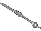 Ford DG9Z-3B436-E Shaft-Front Axle