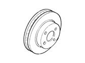 Ford EXP Brake Disc - F13Z-1125-A