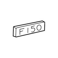 Genuine Ford F85Z-16720-DA Nameplate